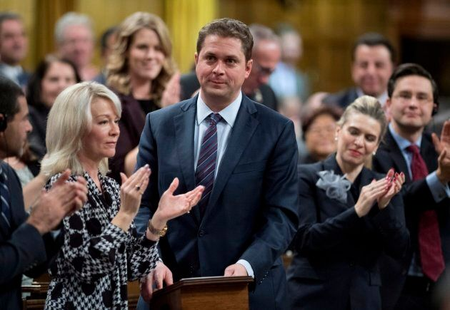 Conservative leader Andrew Scheer rises in the House of Commons in Ottawa on Nov. 20,