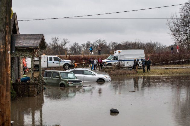 Brantford residents were being evacuated due to flooding along the Grand River after an ice jam upstream...