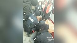 Video Of 5 Officers Pinning Toronto Transit Passenger Spurs