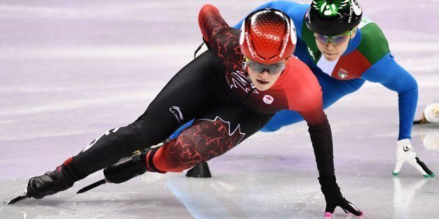 Canada's Kim Boutin competes in the women's 1,000-metre