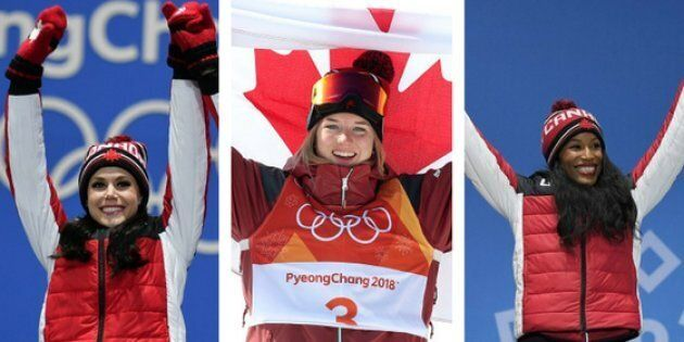 Canada's Tessa Virtue, Cassie Sharpe, and Phylicia George are just three of the many female athletes who have won medals at the 2018 PyeongChang Olympics.