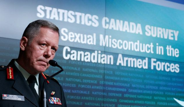 Canada's Chief of the Defence Staff General Jonathan Vance takes part in a news conference on the findings of the Statistics Canada Survey on Sexual Misconduct in the Canadian Armed Forces in Ottawa on Nov. 28, 2016.