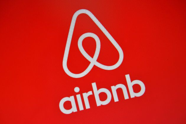 he Airbnb logo is displayed on a computer screen on Aug. 3, 2016 in London,