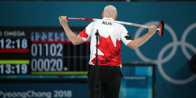 Skip Kevin Koe of Canada lost the bronze medal match against