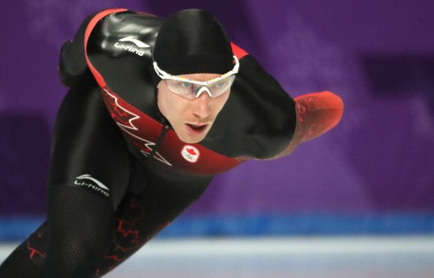 Ted-Jan Bloemen of Canada wins the gold medal in the men's 10,000-metre speedskating event at the PyeongChang...