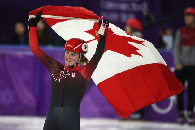 Canada's Kim Boutin won three medals in short-track