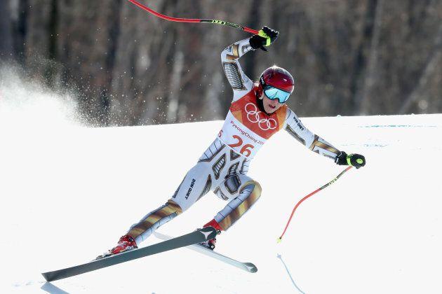 Ester Ledecka won the Alpin super-G earlier during the
