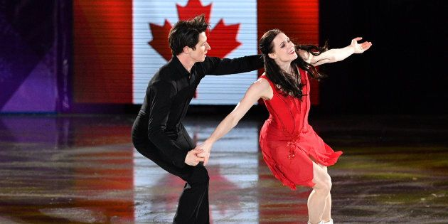 Canada's Tessa Virtue and Scott Moir perform during the figure skating gala at the PyeongChang 2018 Games.