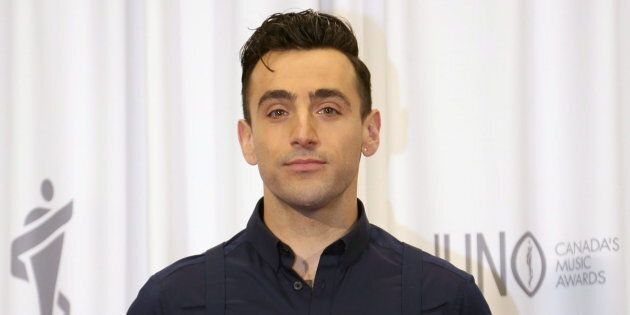 Jacob Hoggard of Hedley poses backstage following the Juno Awards in Hamilton, Ont., on March 15,