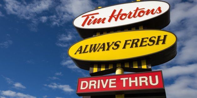A Tim Hortons location in Kingston, Ont., Thurs. Oct. 12, 2017. Tim Hortons locations across the country...