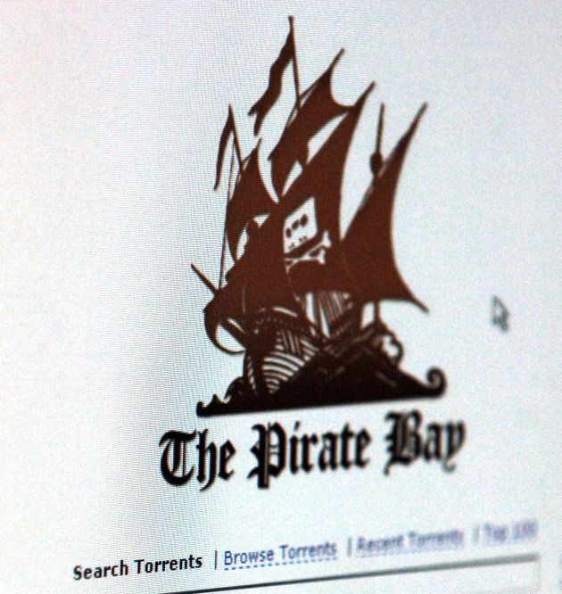 The Pirate Bay, a popular website used for downloading illegal content.