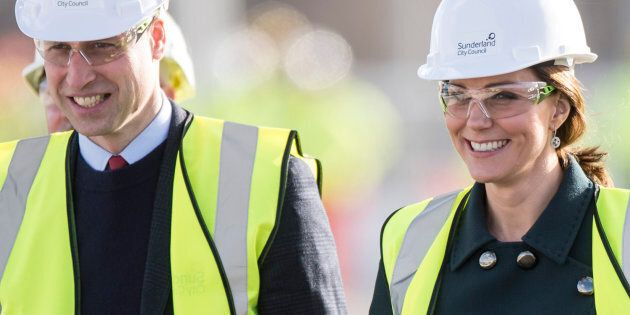 No, the Duke and Duchess of Cambridge haven't decided to get into the construction business, they were just on a site tour.