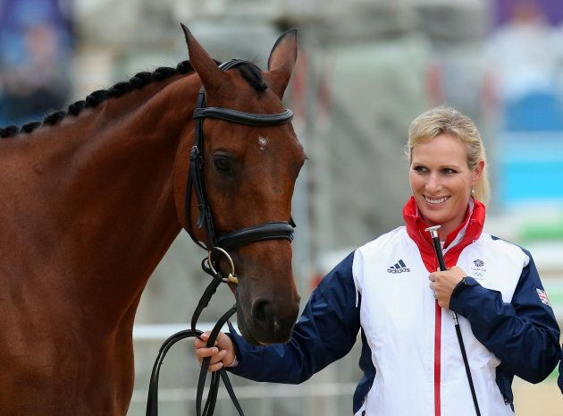 Zara Phillips with her horse High Kingdom at the 2012 Olympics.