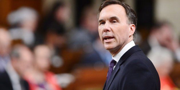 Finance Minister Bill Morneau delivers the federal budget in the House of Commons in Ottawa on Feb. 27....