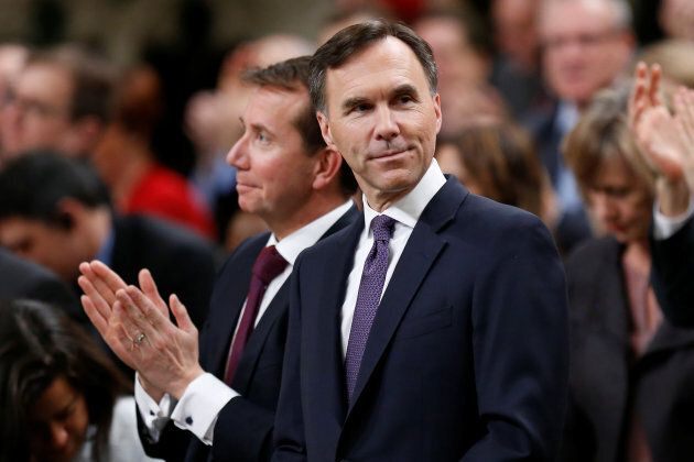 Finance Minister Bill Morneau delivers the budget in the House of Commons on Parliament Hill in Ottawa...