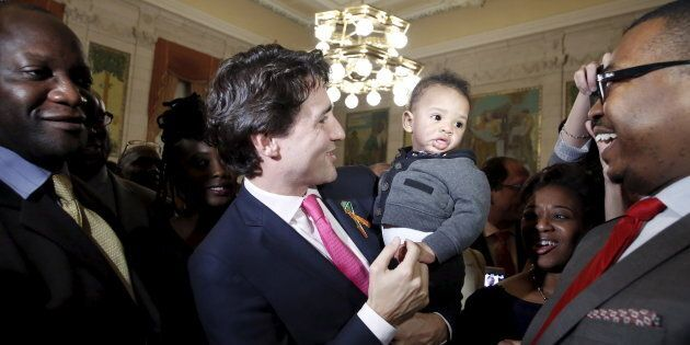 Prime Minister Justin Trudeau during an event to mark the 20th Anniversary of Black History Month in...