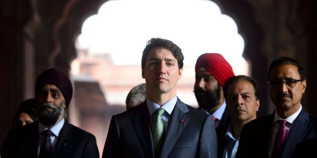 Prime Minister Justin Trudeau visits the Jama Masjid Mosque in New Delhi, India on Feb. 22,