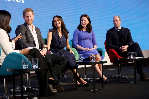 Prince Harry, Meghan Markle, Kate Middleton and Prince William attend the first annual Royal Foundation Forum.