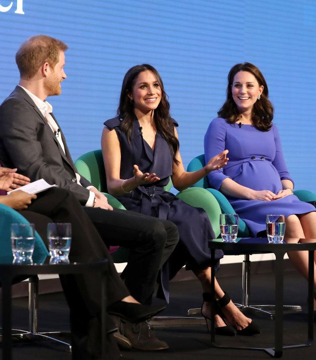 Prince Harry, Meghan Markle and the Duchess of Cambridge at the Royal Foundation Forum.