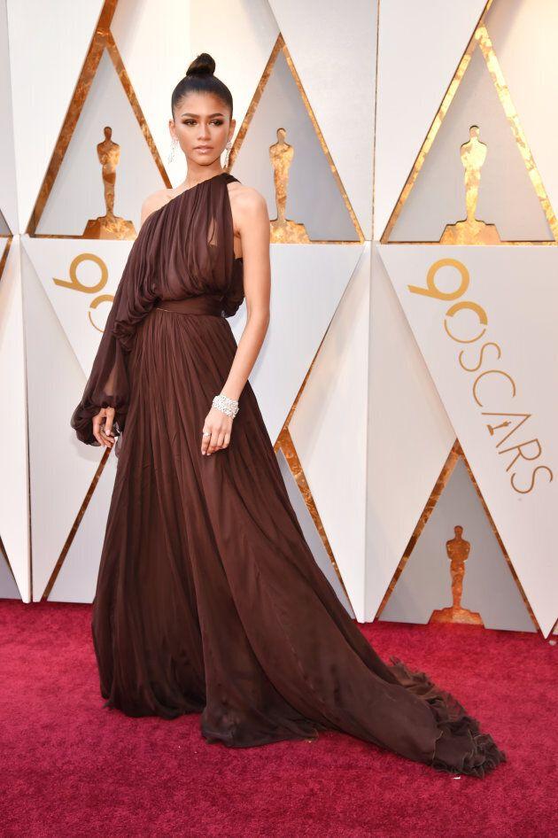 Zendaya at the 2018 Oscars.