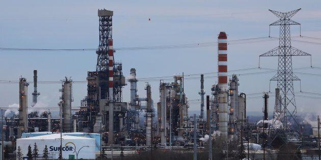 A Suncor refinery is seen in Sherwood Park, near Edmonton, Nov. 13,