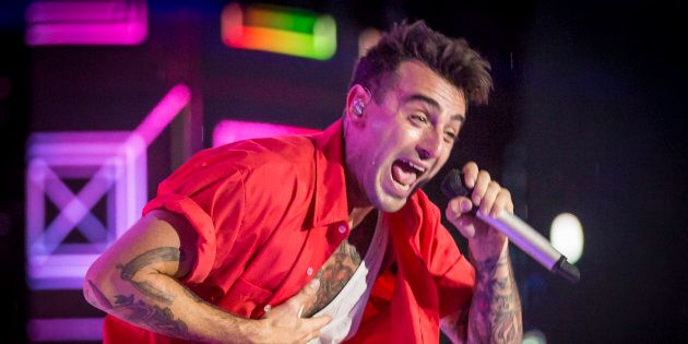 Jacob Hoggard of Hedley performs at We Day Canada at Parliament Hill on July 2, 2017 in Ottawa,