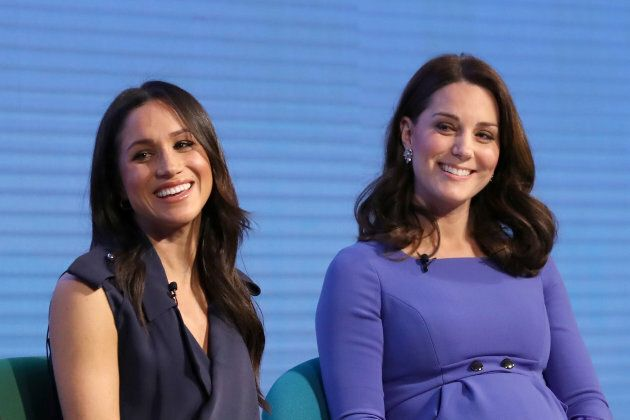 Here are Meghan Markle and the Duchess of Cambridge not wearing Canadian fashion.