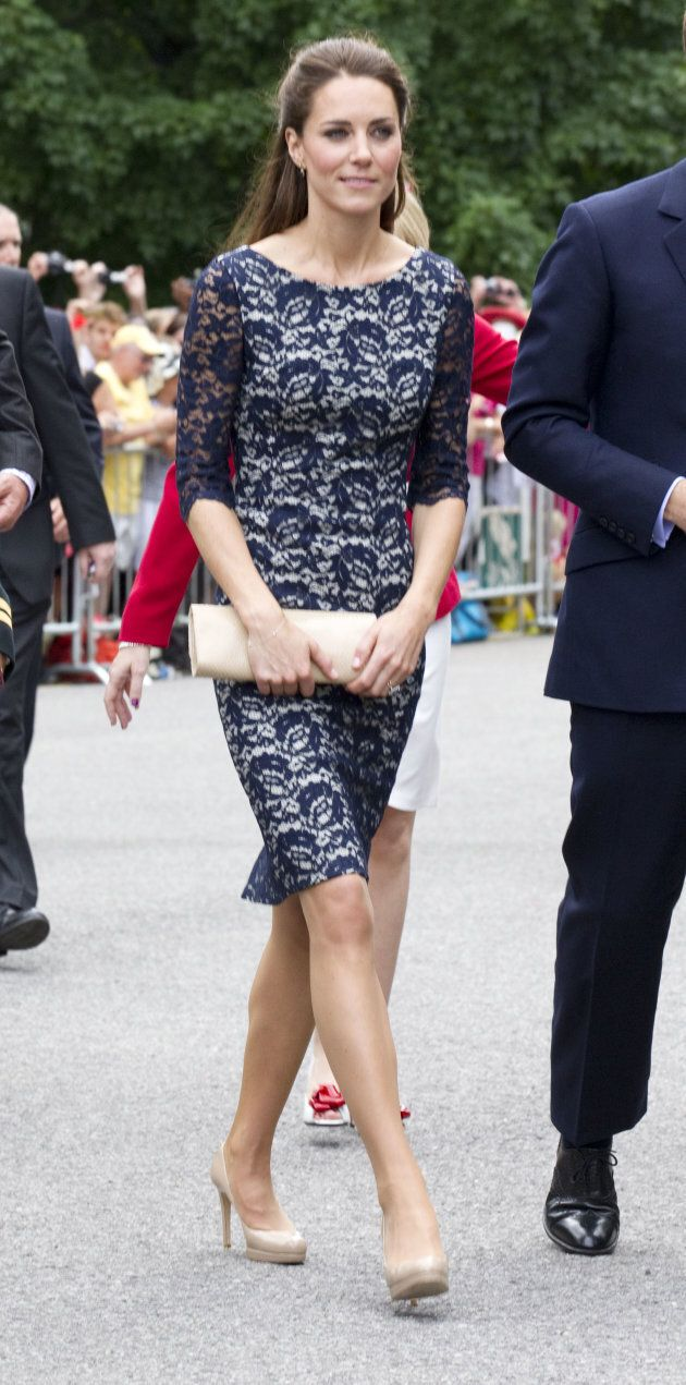 The Duchess Of Cambridge in Ottawa wearing Erdem.