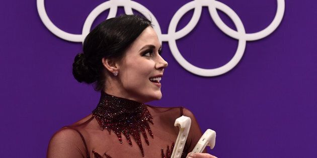 Canada's Tessa Virtue, the new face of Nivea Canada, after competing in the free dance during the PyeongChang...