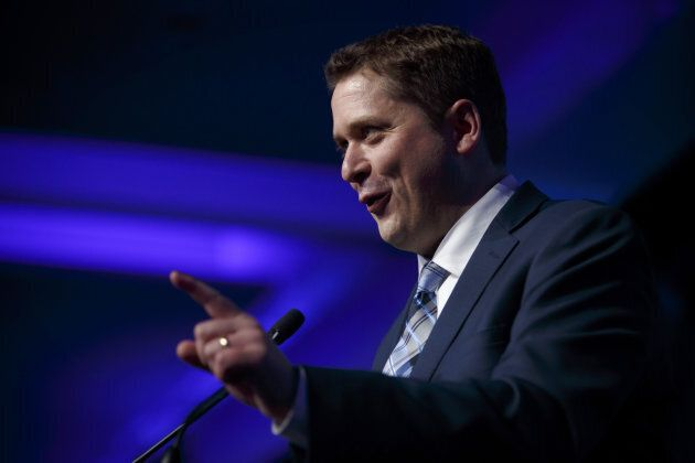 Andrew Scheer speaks during the Conservative Party Of Canada's Leadership Conference in Toronto on May...