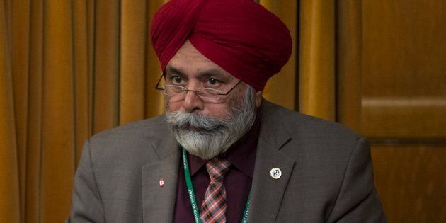 Liberal MP Darshan Singh Kang rises in the House of Commons on April 18, 2016 in