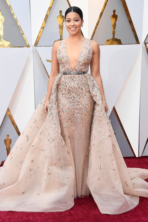 Oscars 2018: Gina Rodriguez Brings The Heat To The Red