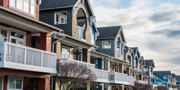 A row of houses in the Vancouver suburb of Richmond, B.C. The market for detached homes in Vancouver has softened so much that it is