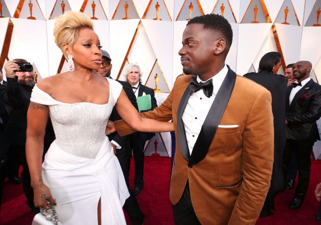 HOLLYWOOD, CA - MARCH 04: Mary J. Blige (L) and Daniel Kaluuya attend the 90th Annual Academy Awards...