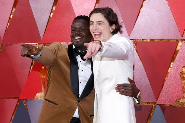 Daniel Kaluuya and Timothee Chalamet: cool kids