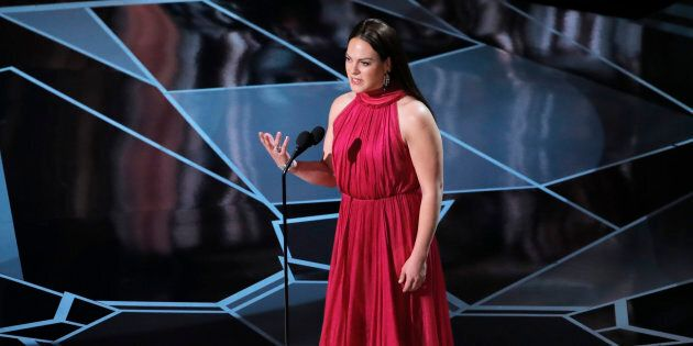Presenter Daniela Vega at the 90th Academy Awards On March 4,