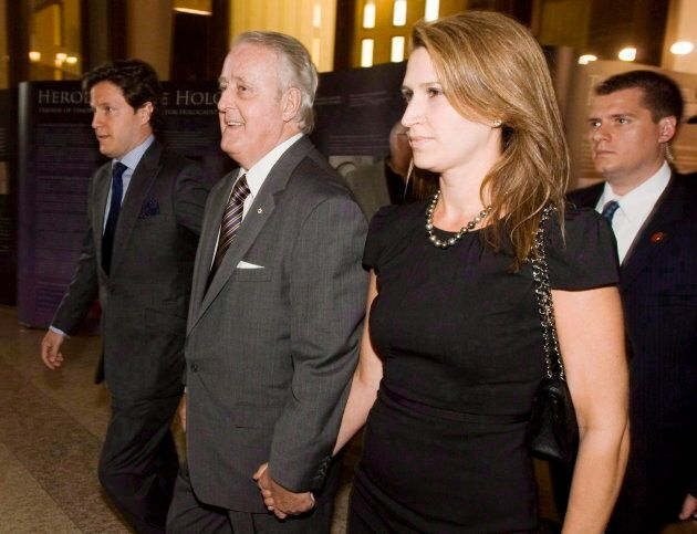 Former prime minister Brian Mulroney and daughter Caroline arrive for the Spirit of Hope benefit in Toronto...