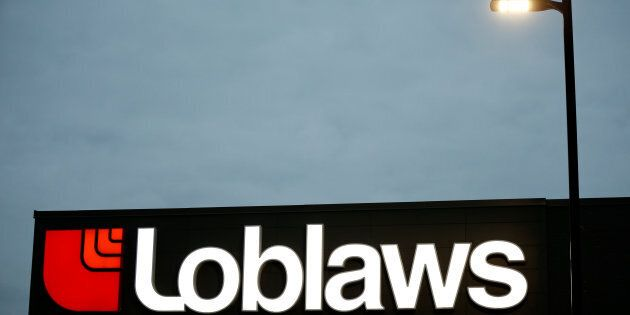 A sign is pictured outside a Loblaw supermarket in Ottawa, Nov. 14,