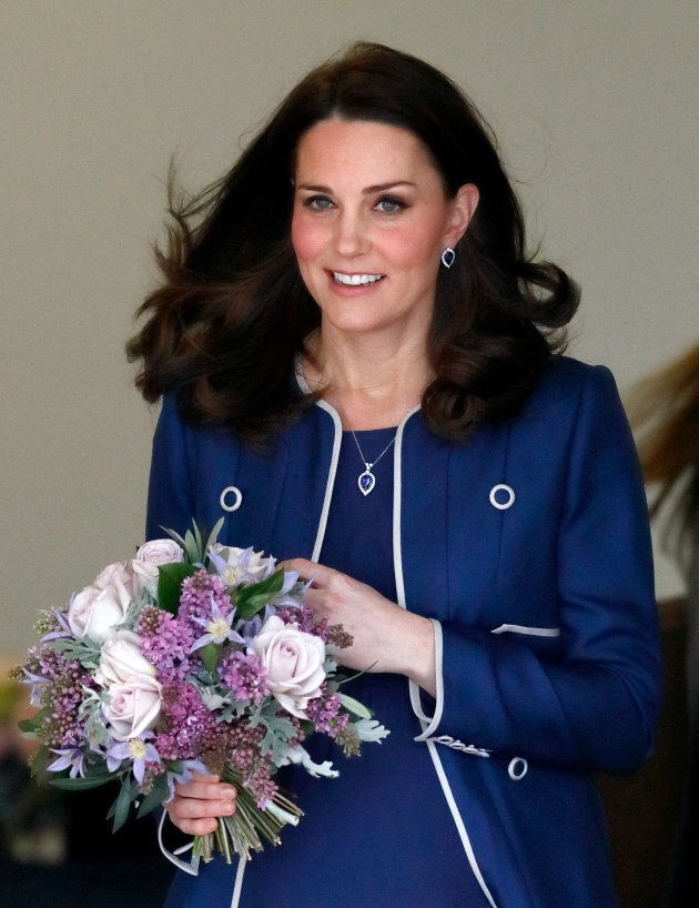 The Duchess of Cambridge visits the Royal College of Obstetricians and Gynaecologists on Feb. 27,