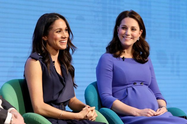 Meghan Markle and Catherine attend the first annual Royal Foundation Forum on Feb. 28,