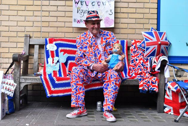 A royal fan pictured outside St. Mary Hospital's Lindo