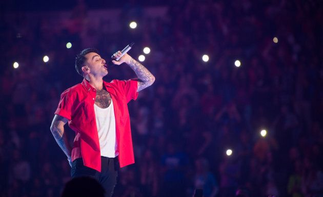 Jacob Hoggard of Hedley performs at WE Day on day six of the Invictus Games Toronto 2017 on Sept. 28, 2017 in Toronto.