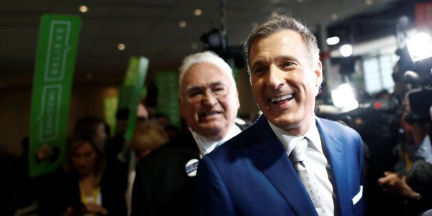 Maxime Bernier arrives at the Conservative Party of Canada leadership convention in Toronto on May 27,