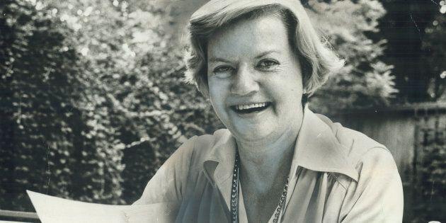 Author and journalist Doris Anderson.