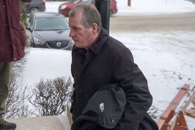 Gerald Stanley enters the Court of Queen's Bench on the day of closing arguments in his trial in Battleford,...