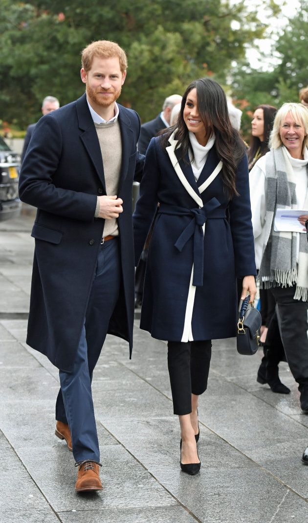Prince Harry and Meghan Markle on a walkabout during a visit to Millennium Point in