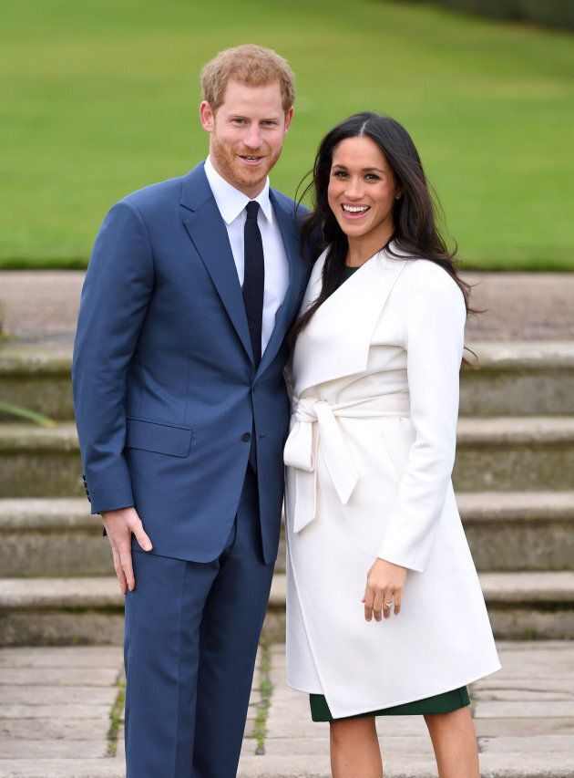 Prince Harry and Meghan Markle at their engagement photocall.
