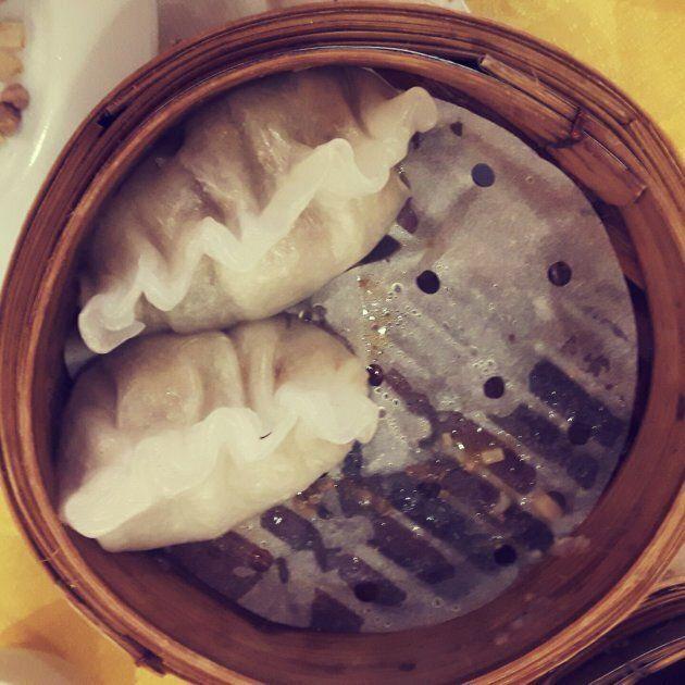 My favourite dim sum dish: steamed dumpling.