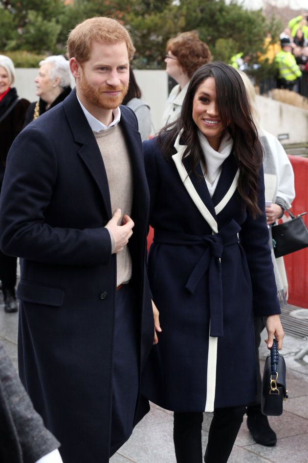 Prince Harry and Meghan Markle in Birmingham on March 8,