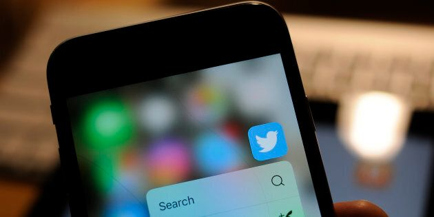 The Twitter app is seen on an iPhone, Dec. 1, 2017. A new study finds that false information on Twitter...